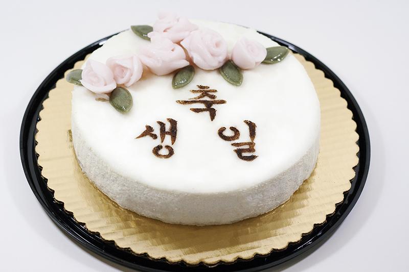 백설기케이크/ White Snow Cake